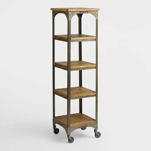 Wood and metal aiden tag re world market - Etagere modulable metal ...