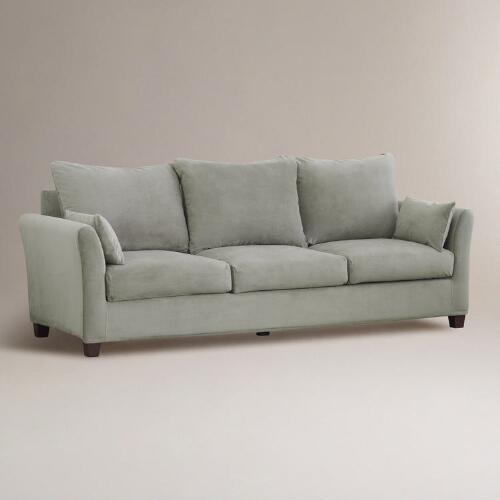 Cloud Luxe ThreeSeat Sofa Velvet Slipcover Collection  World Market