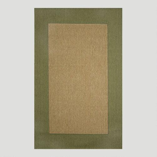 Green Border Indoor-Outdoor Rug | World Market - photo#35