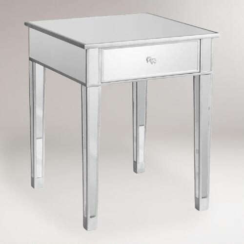 World Market Table: Mirrored Accent Table