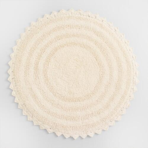 ivory round bath mat world market
