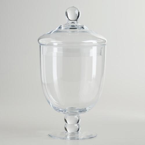 Small Decorative Bottles Wholesale: Small Round Apothecary Jar