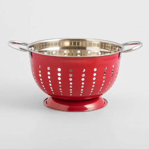 World Kitchen Coupon: Red Stainless Steel Colander