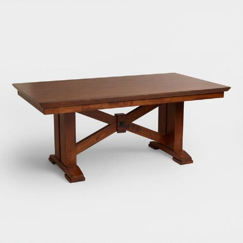 Jackson Rectangular Table With Metal Base: Lugano Dining Table