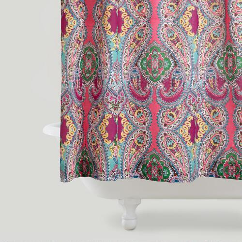 pink venice shower curtain world market