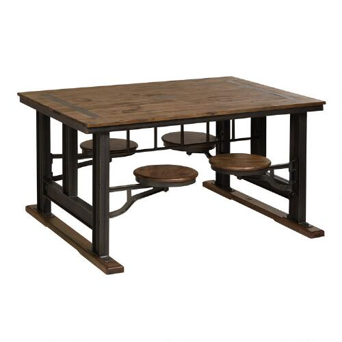 American Lunch Table Set Up : Galvin Cafeteria Table  World Market