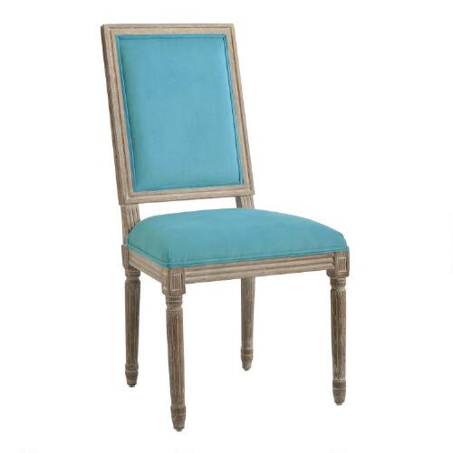 World Market Dining Room: Peacock Square-Back Paige Dining Chairs, Set Of 2