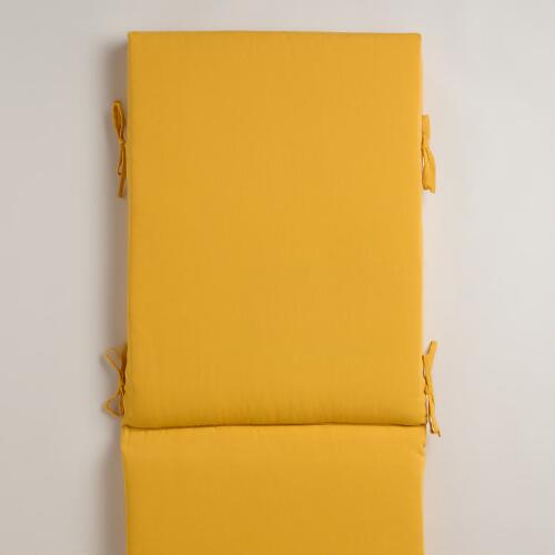 Yellow Outdoor Chaise Lounge Cushion