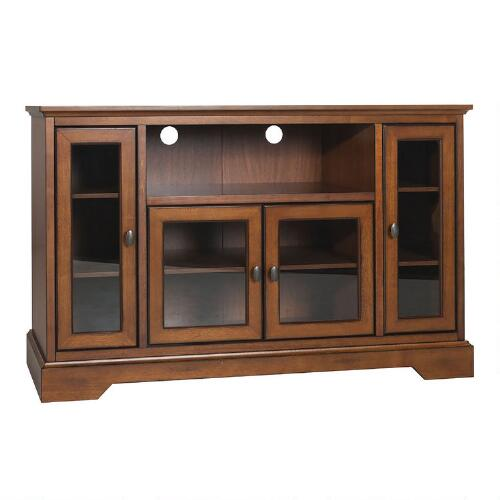 rustic brown wood rochester storage cabinet world market