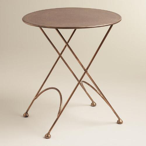 Metal Virgil Accent Table: Round Ariana Metal Accent Table