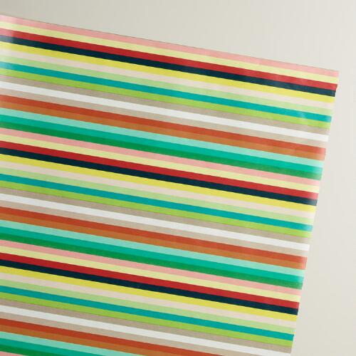 Stripe Birthday Heroes Wrapping Paper Roll | World Market