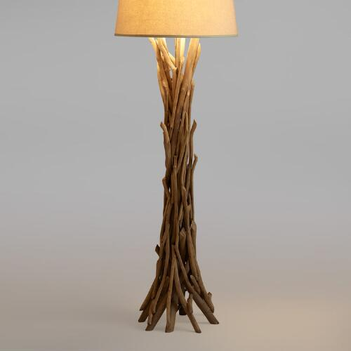 Driftwood Floor Lamp Base