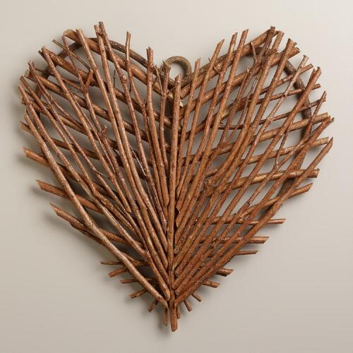 twig heart wall decor world market forest glen wallscape made to order