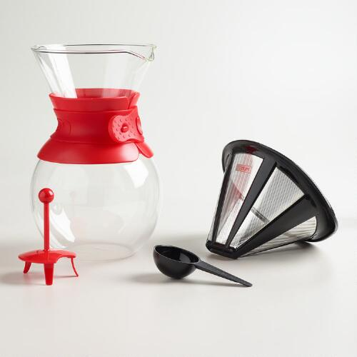 Bodum Coffee Maker Drip : Bodum Kona Pour-Over Drip Coffee Brewer World Market