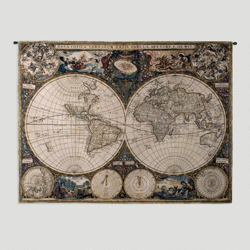Old World Map Wall Tapestry World Market