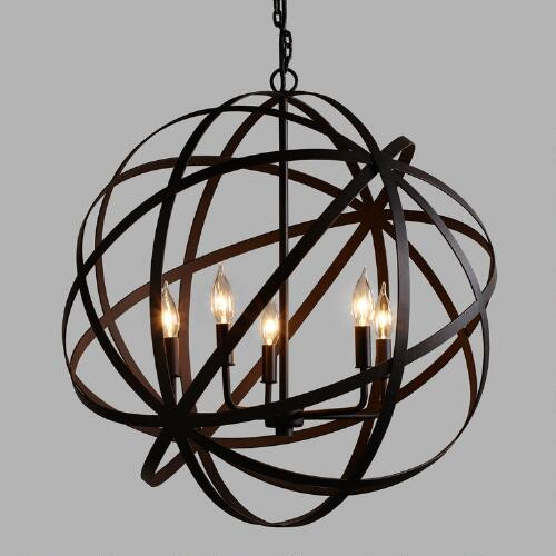 Large Metal Orb Chandelier World Market
