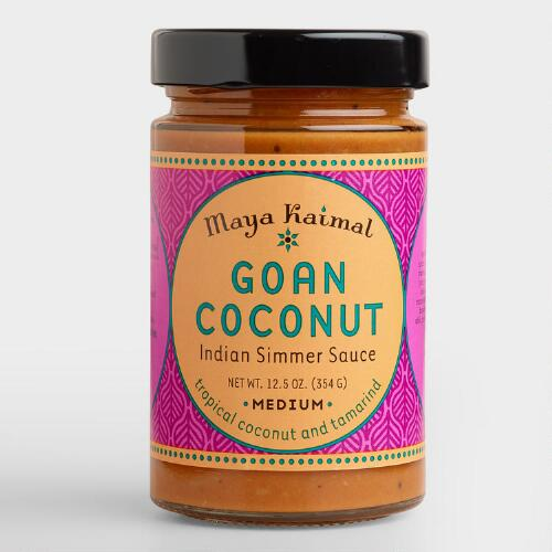 17 Best Images About Cost Plus World Market Food And More: Maya Kaimal Goan Coconut Indian Simmer Sauce, Set Of 6