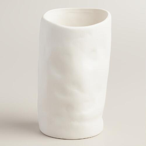 World Market Lately: Tall White Organic-Style Vase