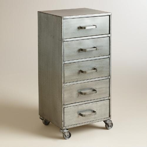 metal 5 drawer jase rolling file cabinet world market