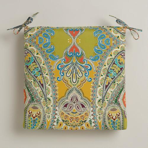 Venice Paisley Outdoor Chair Cushion