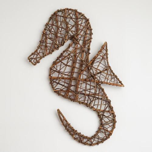 seahorse twig wall d 233 cor world market assorted twig shape metal wall decor set of 3 free