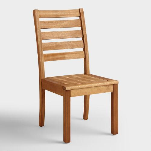 Discount Furniture Stores Near You: Wood Praiano Outdoor Dining Side Chair