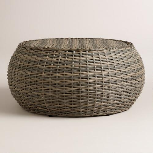 Coffee Table World Market Round Coffee Table Silas Outdoor: All-Weather Wicker Formentera Egg Coffee Table