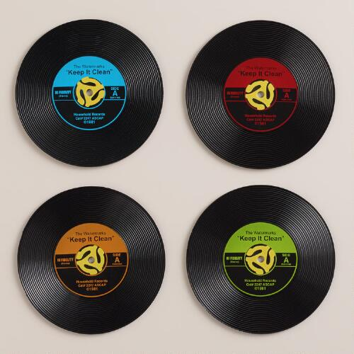 Record Drink Coasters Set Of 4 World Market