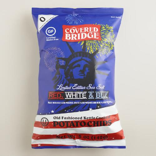 Covered Bridge Red White And Blue Potato Chips World Market