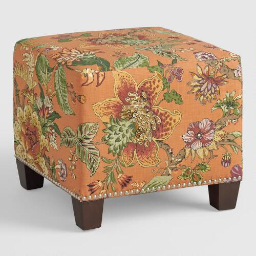 Garrison mckenzie upholstered ottoman world market for Where to put ottoman
