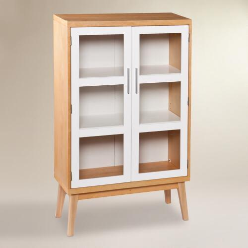 Glass Double Door Abie Storage Cabinet