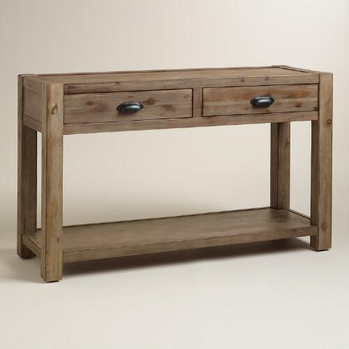 Wood Quade Console Table World Market