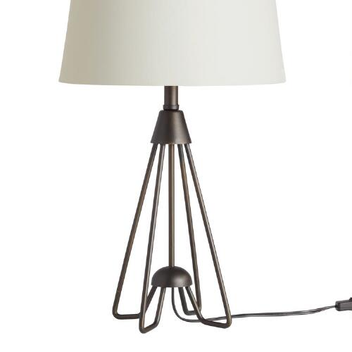 iron hairpin kent table lamp base world market. Black Bedroom Furniture Sets. Home Design Ideas
