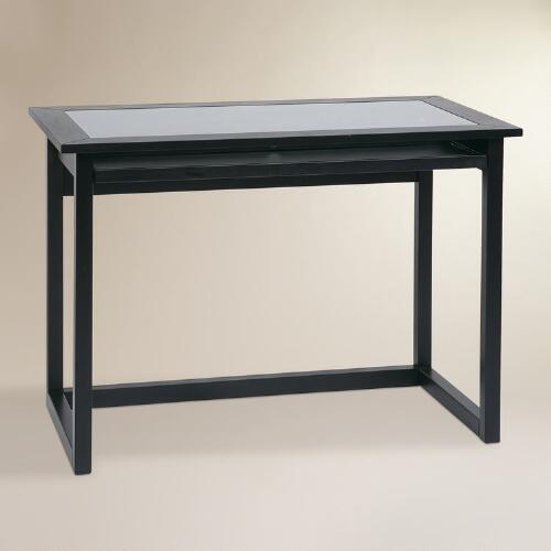 Glass And Wood Herald Desk