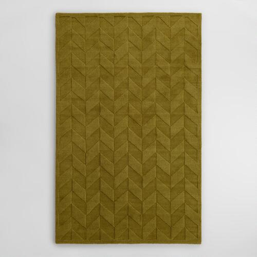 Sprout Chevron Carved Wool Bennet Area Rug World Market