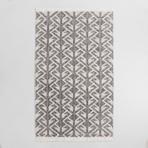 Black Graphic Woven Emerson Indoor Outdoor Area Rug