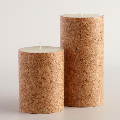 Cork Candles: Cork Wrapped Candle