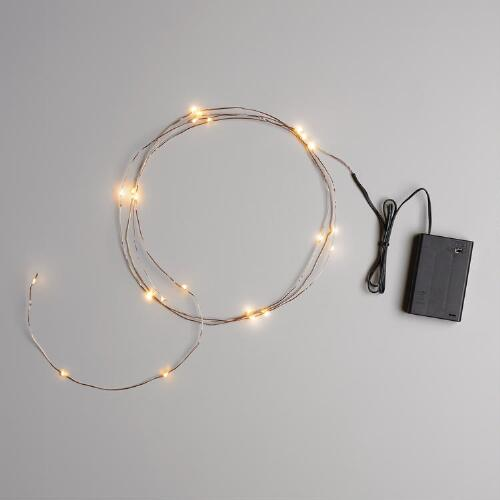 How To Make String Lights Battery Powered : Copper Micro LED 25-Bulb Battery Operated String Lights World Market