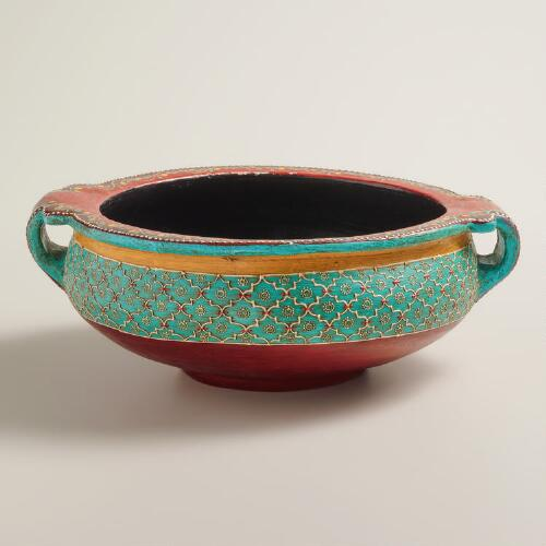 World Bazar: Painted Terracotta Urli Urn