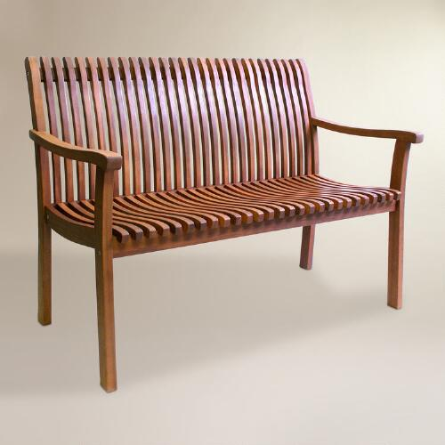 World Of Furniture: Wood Catania Bench
