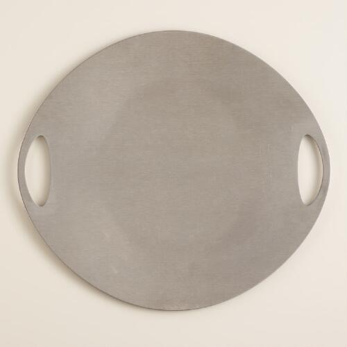 Stainless steel bbq grill and serving plate world market