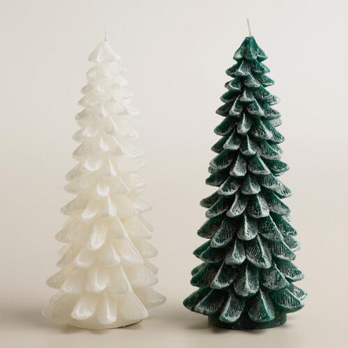 Where To Buy A Christmas Tree Near Me: Frosted Christmas Tree Candle