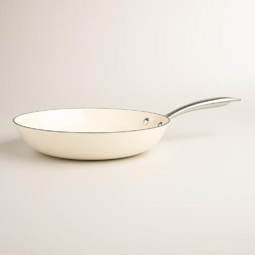 Cast Iron Skillet 10 Inch: 10 Inch Ivory Lightweight Cast Iron Skillet