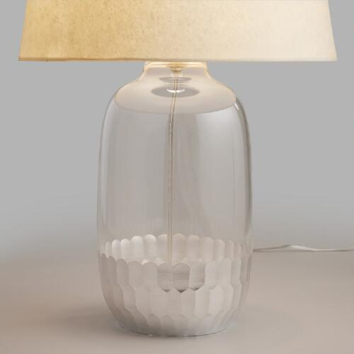 Silver Glass Evelyn Table Lamp Base World Market