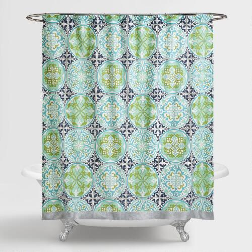 Blue And Green Gabriella Shower Curtain World Market