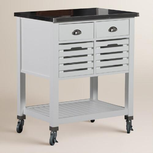 Cocina Kitchen Cart With Stainless Steel Top: Stainless Steel Top Vitale Kitchen Cart