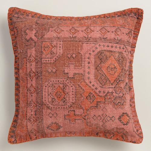 Throw Pillow Rust : Rust Overdyed Cotton Throw Pillow World Market