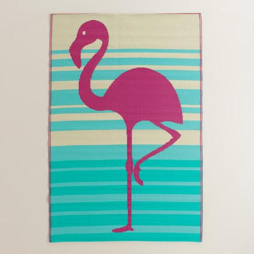 4x6 Fuchsia Flamingo Reversible Rio Floor Mat World Market