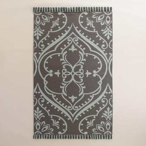 Gray Pacifica Indoor Outdoor Rug | World Market - photo#21