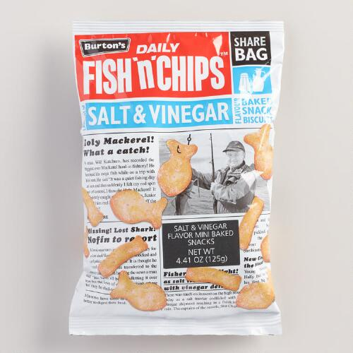 Burton 39 s salt and vinegar fish 39 n 39 chips biscuits 5 pack for Fish and chips vinegar